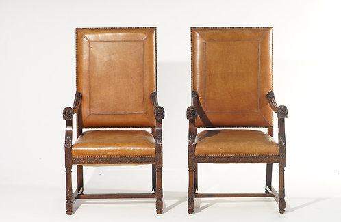 19th c. French Walnut Chairs