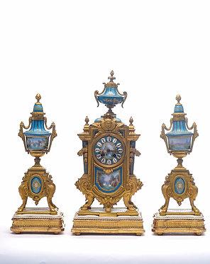 Sévres French Dore Bronze Clock