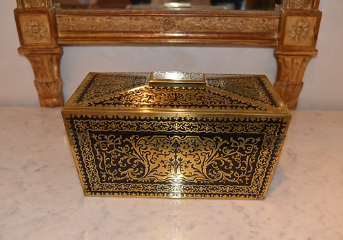 19th c. French Inlaid Bronze Boulle Tea Caddy