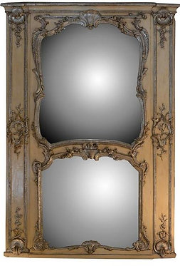 18th c. French Silver-leafed Mirror