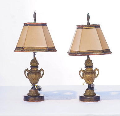 19th c. French Miniature Bronze Fragment Lamps