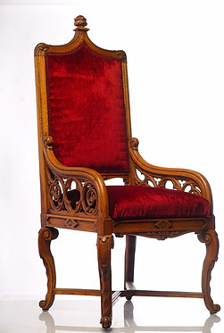 19th c. English Gothic Single Arm Chair SOLD