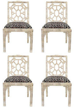 20th c. English Chippendale Style Side Chairs (Set of 4)