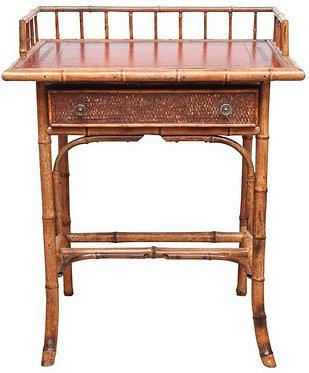 19th c. English Bamboo Writing Table