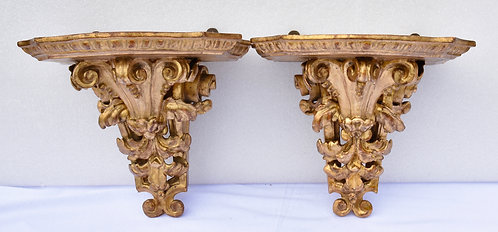 Gilded Wall Brackets  (pair)