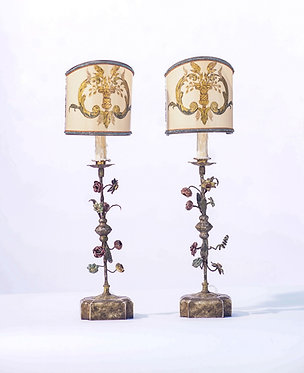 19th c. French Iron Fragment Lamps