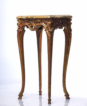 19th c. French Regence Sienna Marble Table