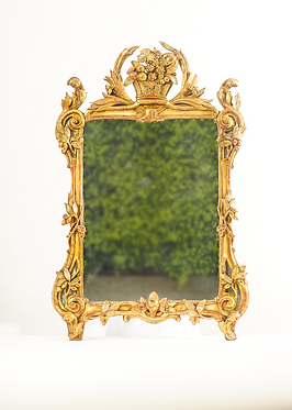 19th c. French Giltwood Mirror