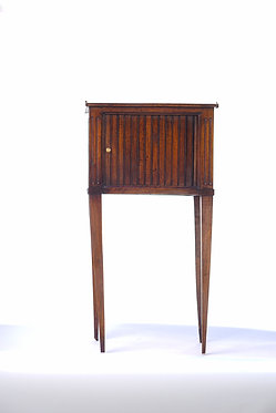 19th c. French Walnut Tambour Door Side Table