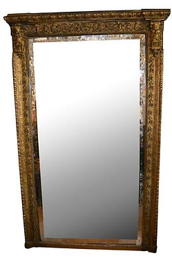 19th c. Italian Gesso and Giltwood Mirror