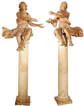 17th c. Italian Figures (pair)