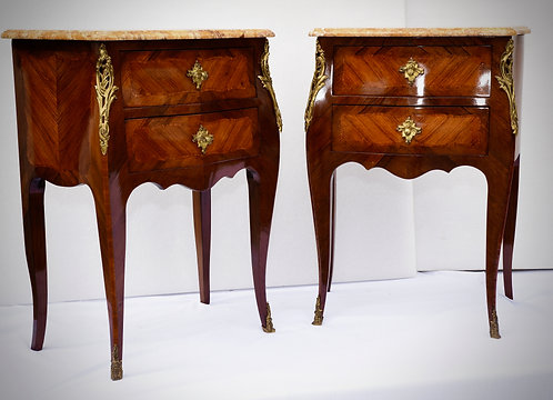 19th c. Side Tables with bronze detail
