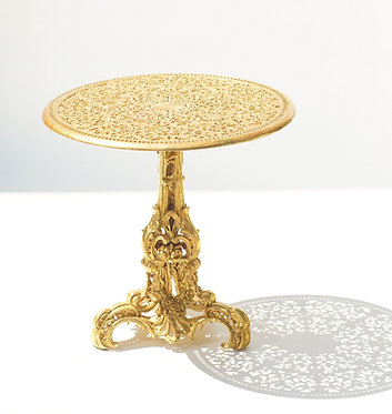 19th c. French  Gilded Iron Table