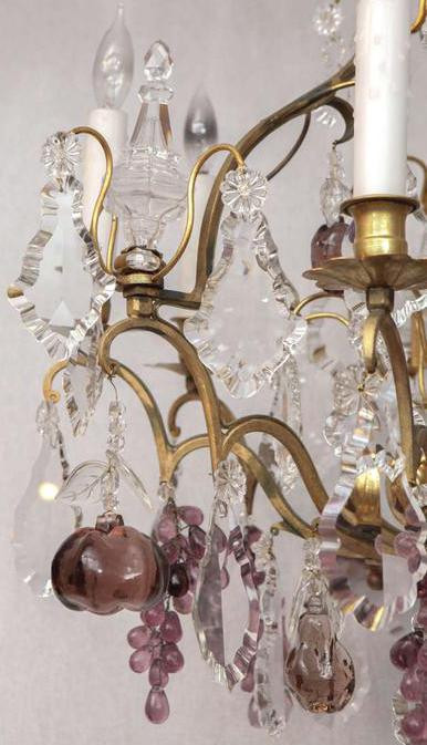 19th c french dore bronze crystal chandelier villamelrose french dore bronze crystal chandelier aloadofball Images