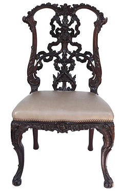 19th c. English Chinese Chippendale Chair