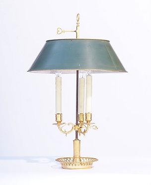 19th c. French Bronze Bouillotte Lamp
