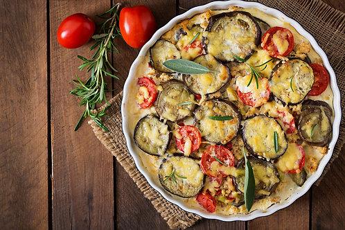 Aubergine & Potato Gratin