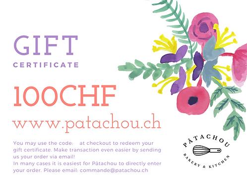 100CHF Gift Certificate / Bon Cadeau