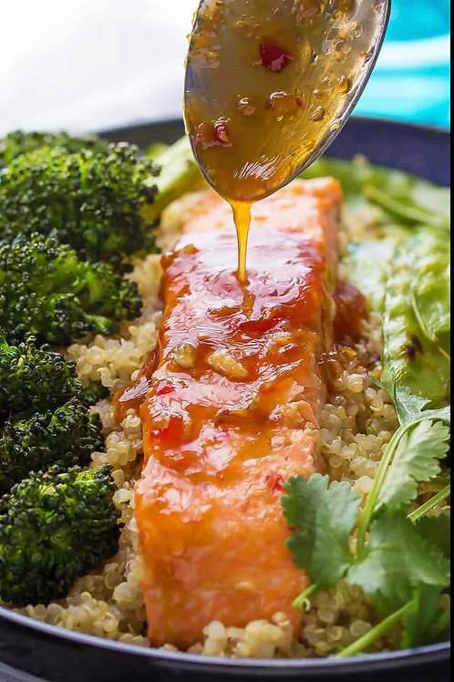 WEEKLY SPECIAL Meal Prep - Salmon, Broccoli et Bio Quinoa