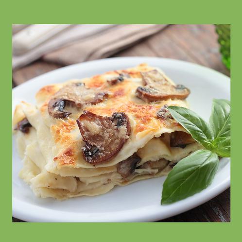 Lasagne aux champignons et aubergines