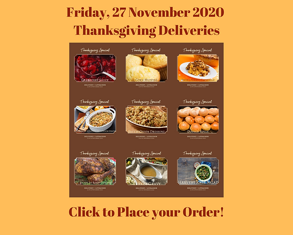 27 November 2020 --- Thanksgiving Delive