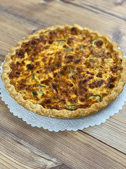 Jalapeno-Bacon Quiche