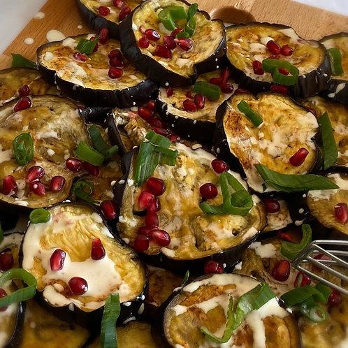 Roasted Aubergines with Tahini Sauce