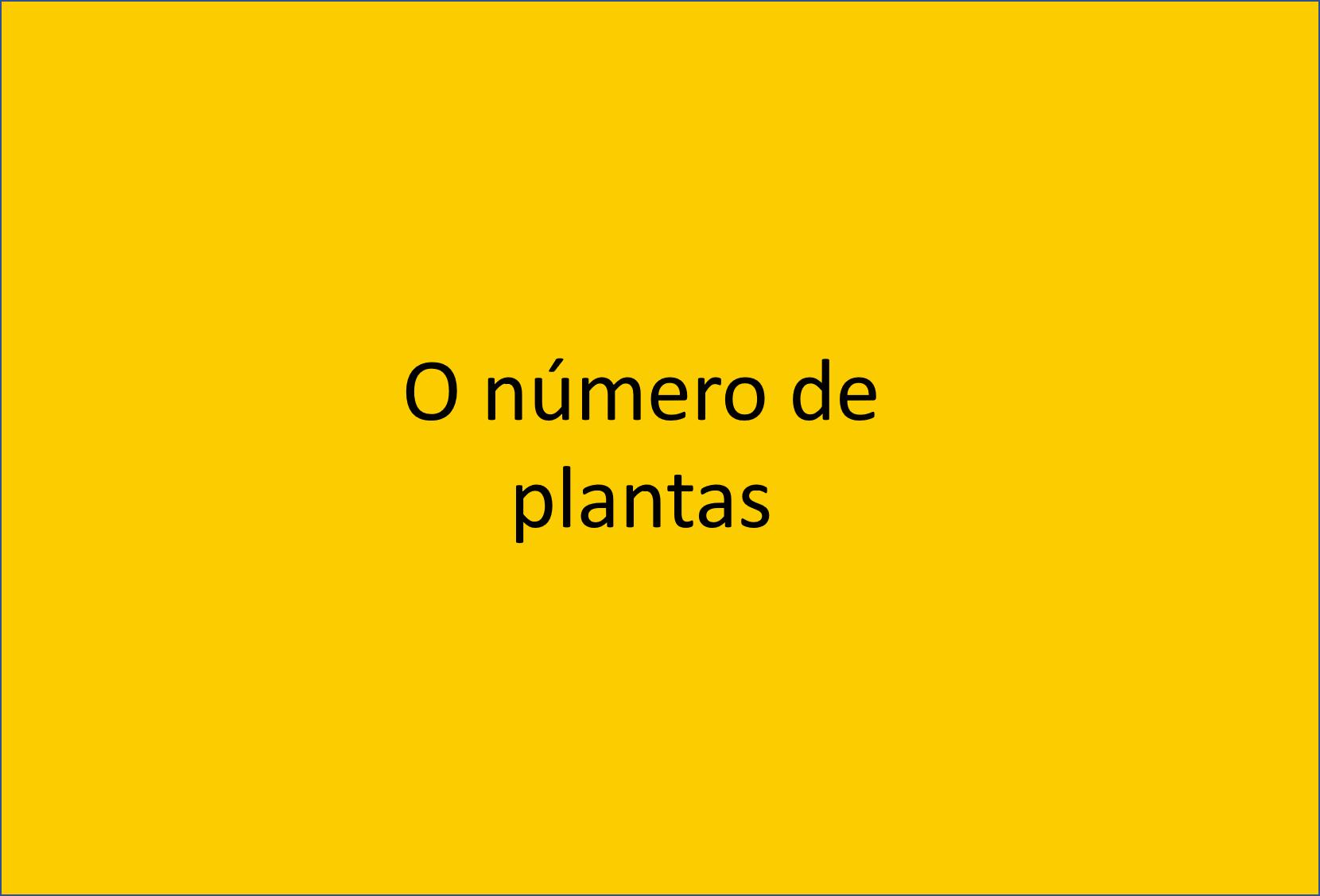 Número de plantas