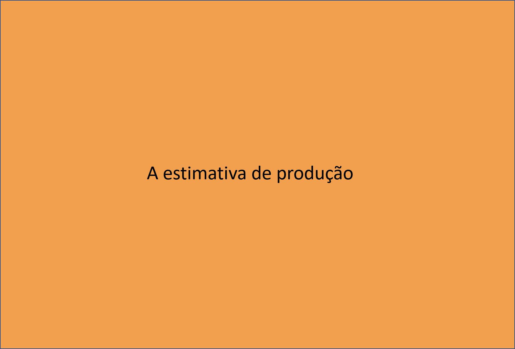 Estimativa de produção