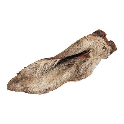 Hirschohren mit Fell (3 Stück - ca. 150g - ca. 15cm bis 20cm)