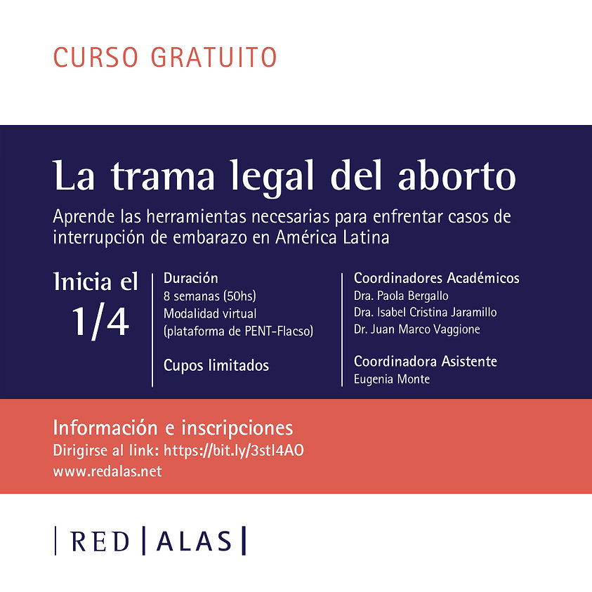 Curso La trama legal del aborto - flyer.