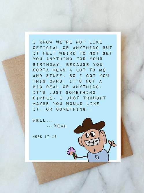 Awkward Birthday Card