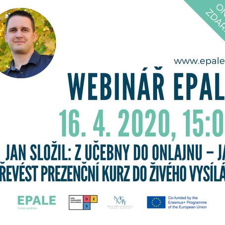 EPALE Webinář - Jak přejít z učebny do onlajnu