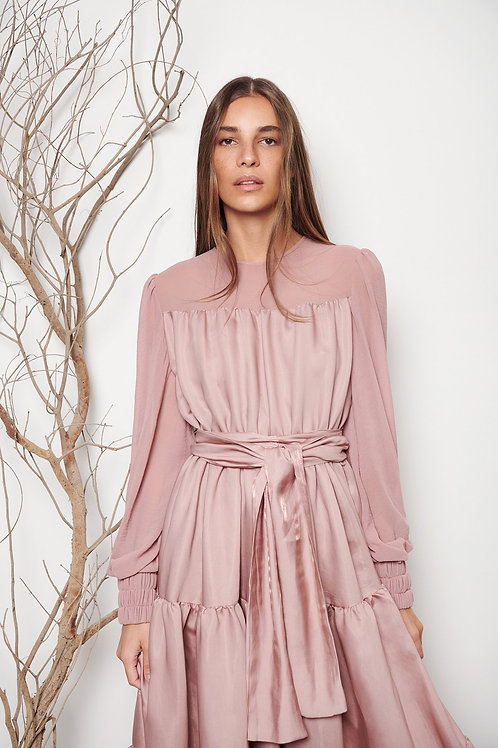 Tiered Flared Dress
