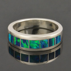 Lab created opal ring by Hileman