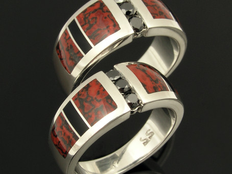 Dinosaur Bone Wedding Rings are Never Boring!