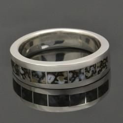 Gray dinosaur bone ring