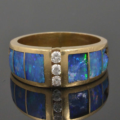 Australian opal ring repair