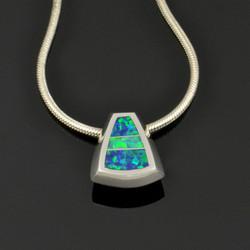 Lab Opal Pendant on Chain