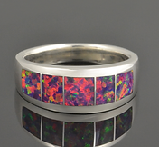 Multi-Color Lab Opal Ring