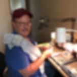 Mark Hileman creating lab opal rings