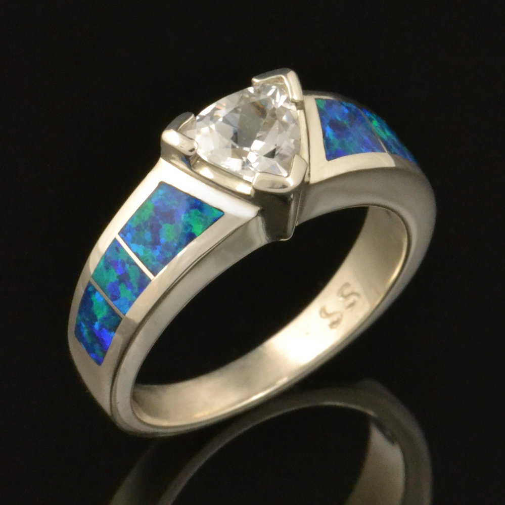 CS029 trillion white sapphire and lab opal 1
