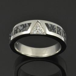 Platinum Dinosaur Bone Ring