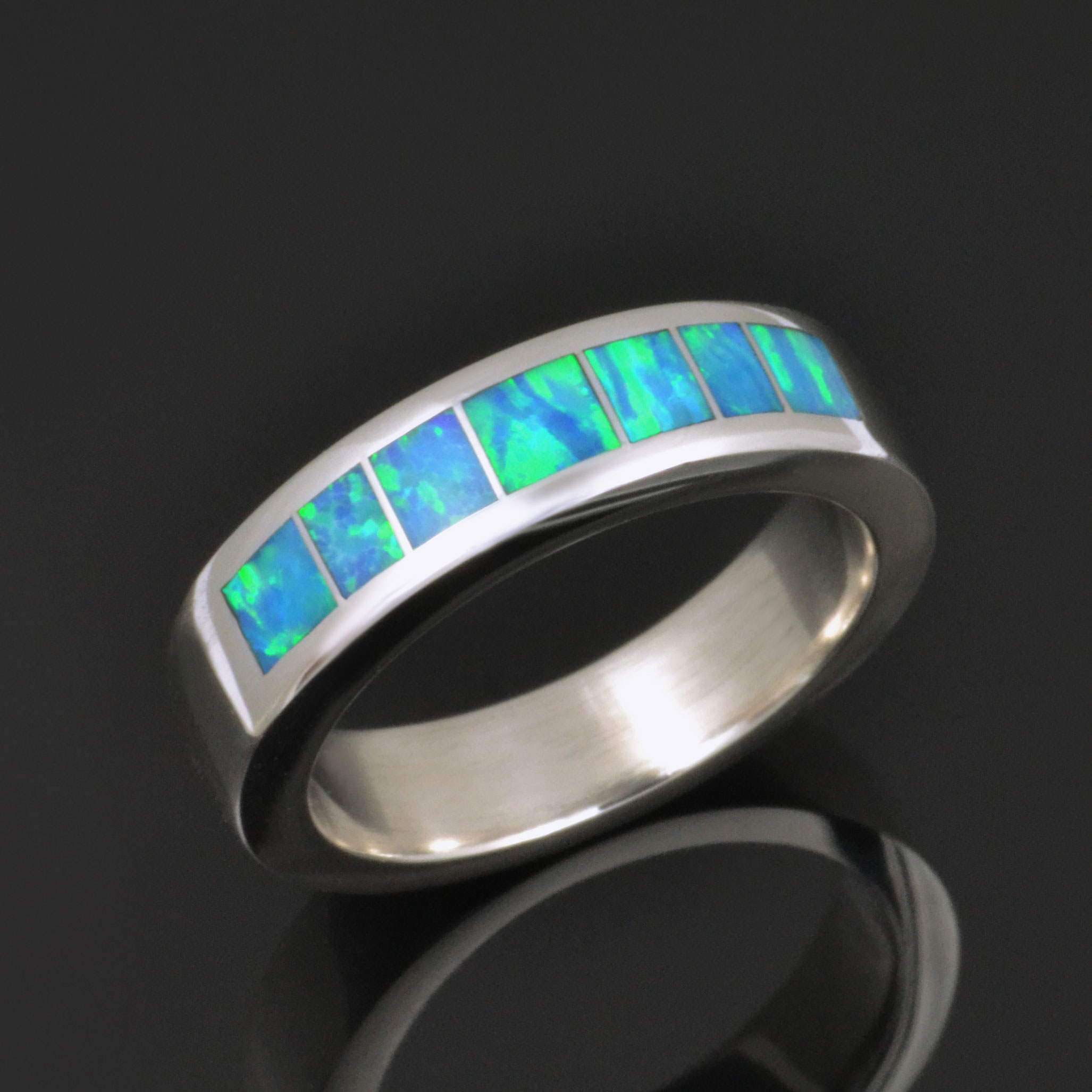 Woman's Lab Opal Wedding Ring