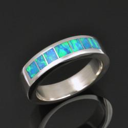 Woman's Lab Opal Wedding Ring