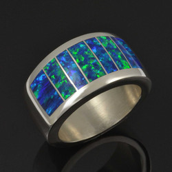 Wide Lab Opal Ring by Hileman