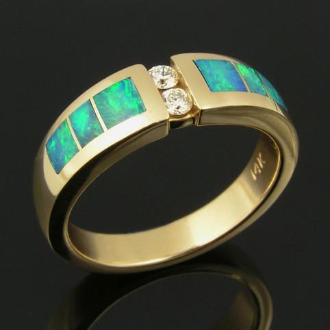 Woman's Opal Wedding Band