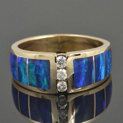 Lab created opal ring repair