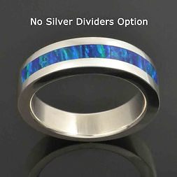 Lab opal band with no silver dividers