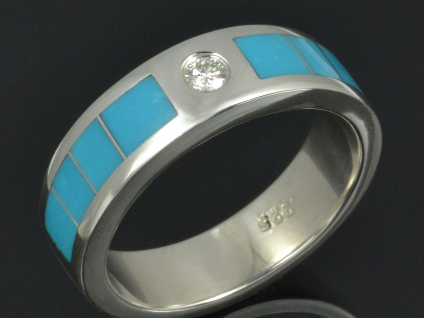 Turquoise Ring with diamond